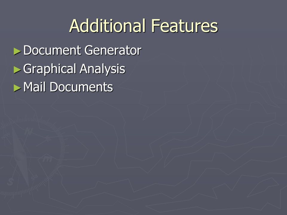 Additional Features Document Generator Graphical Analysis