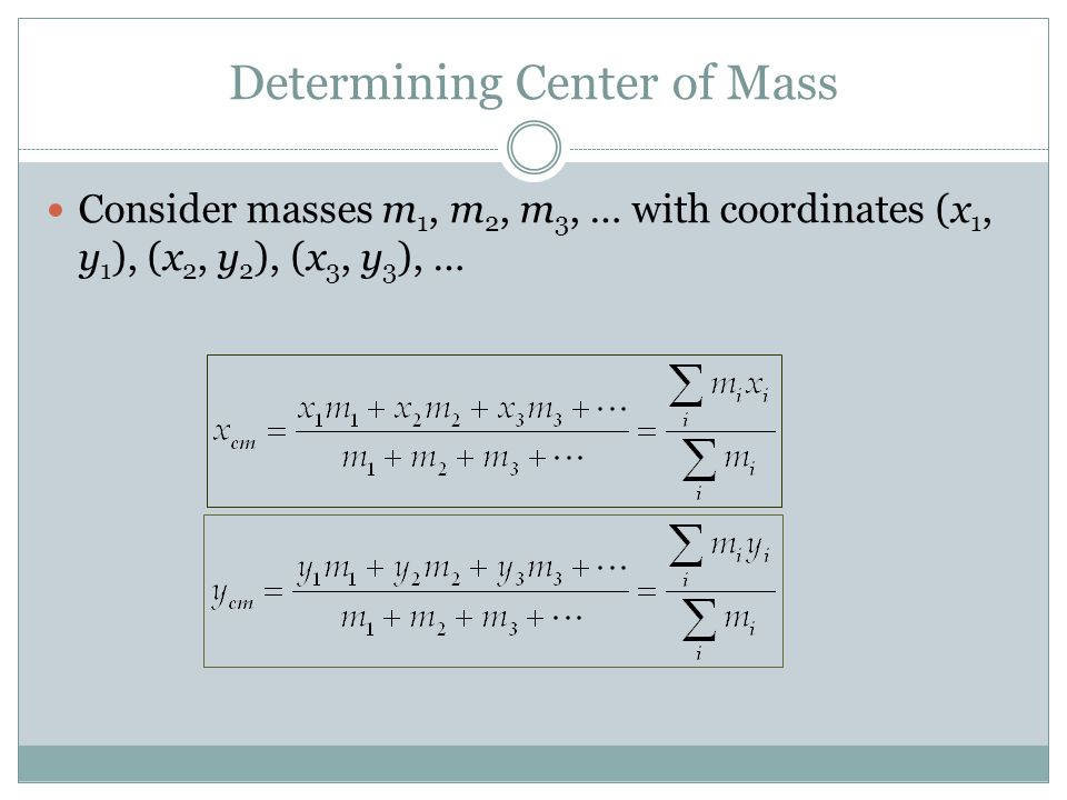 Determining Center of Mass