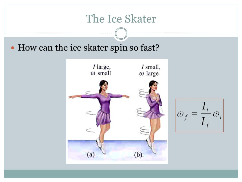 The Ice Skater How can the ice skater spin so fast