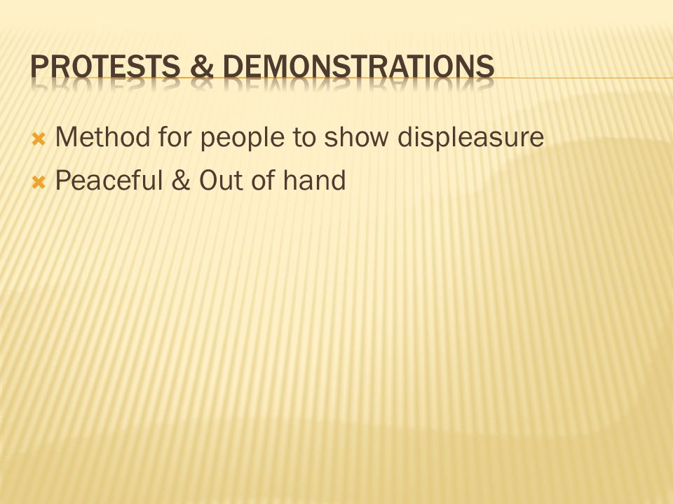 Protests & Demonstrations