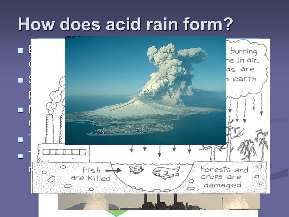 How does acid rain form Burning fossil fuels releases sulfur and nitrogen compounds into the atmosphere.