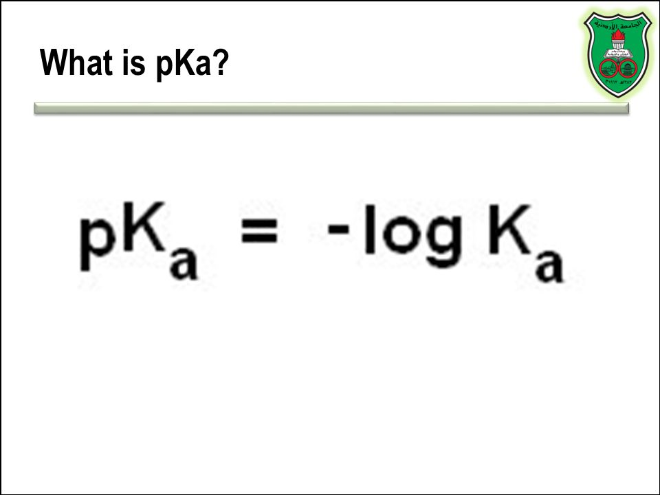 What is pKa