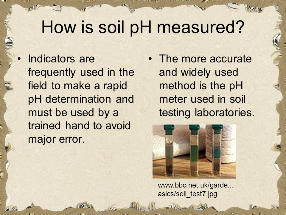 How is soil pH measured