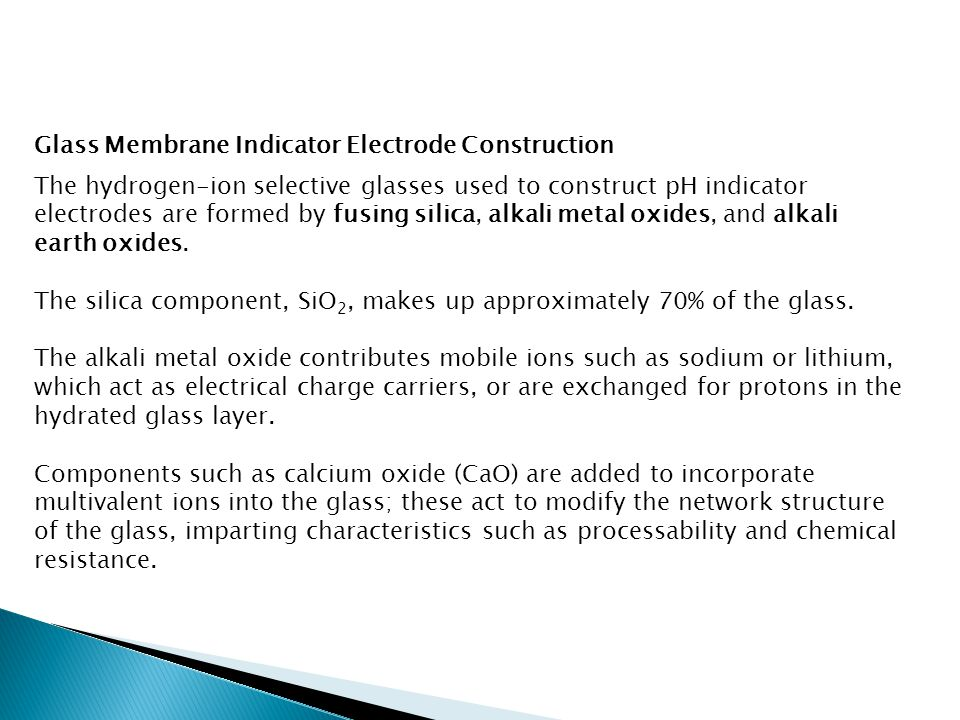 Glass Membrane Indicator Electrode Construction