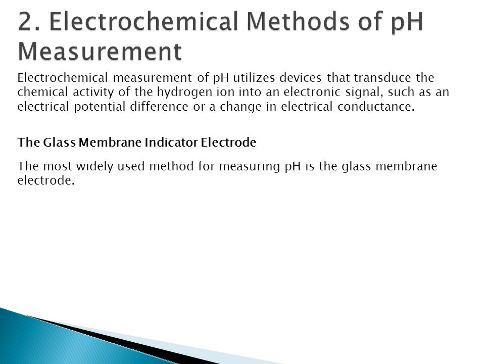 2. Electrochemical Methods of pH Measurement