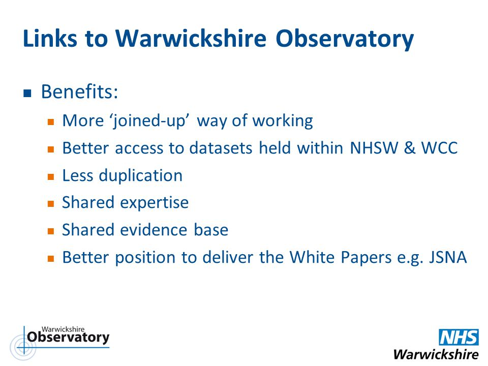 Links to Warwickshire Observatory