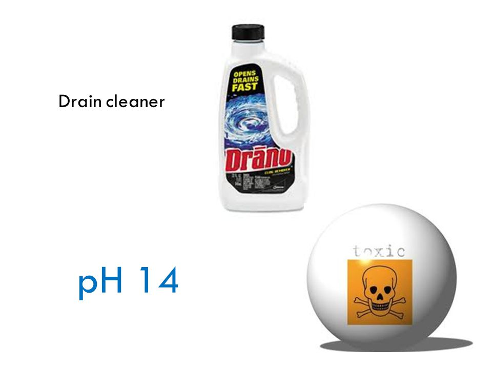 Drain cleaner pH 14
