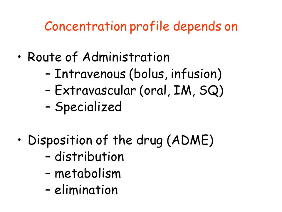 Concentration profile depends on