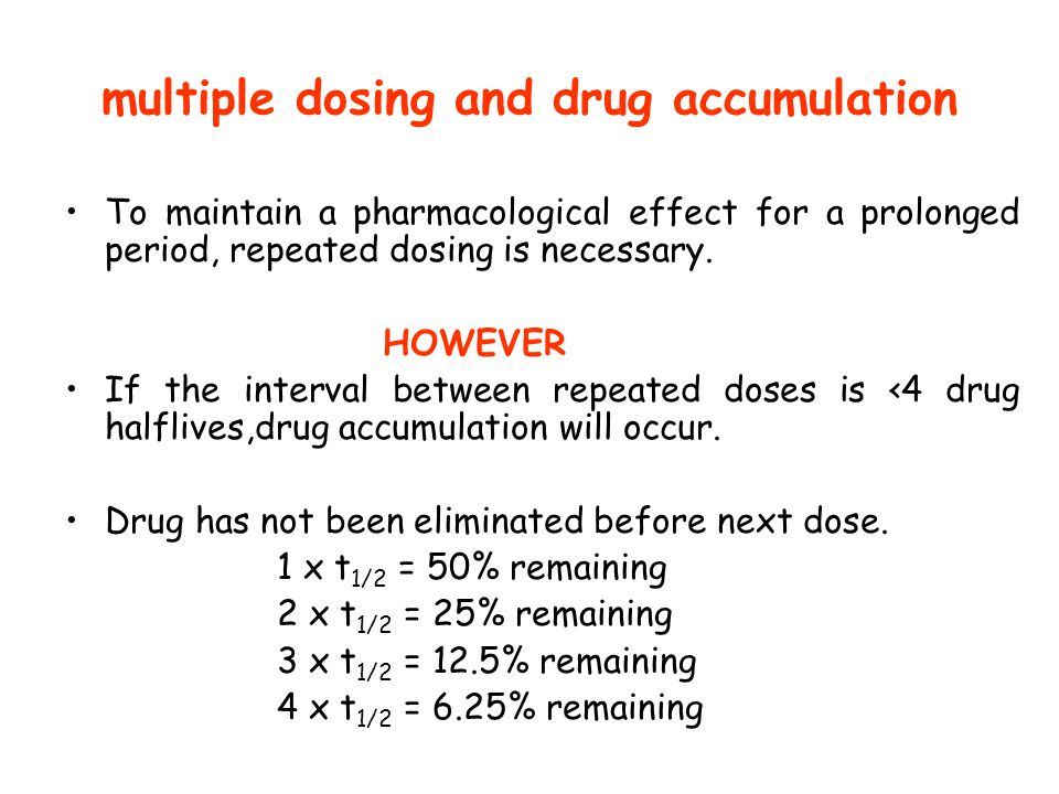 multiple dosing and drug accumulation