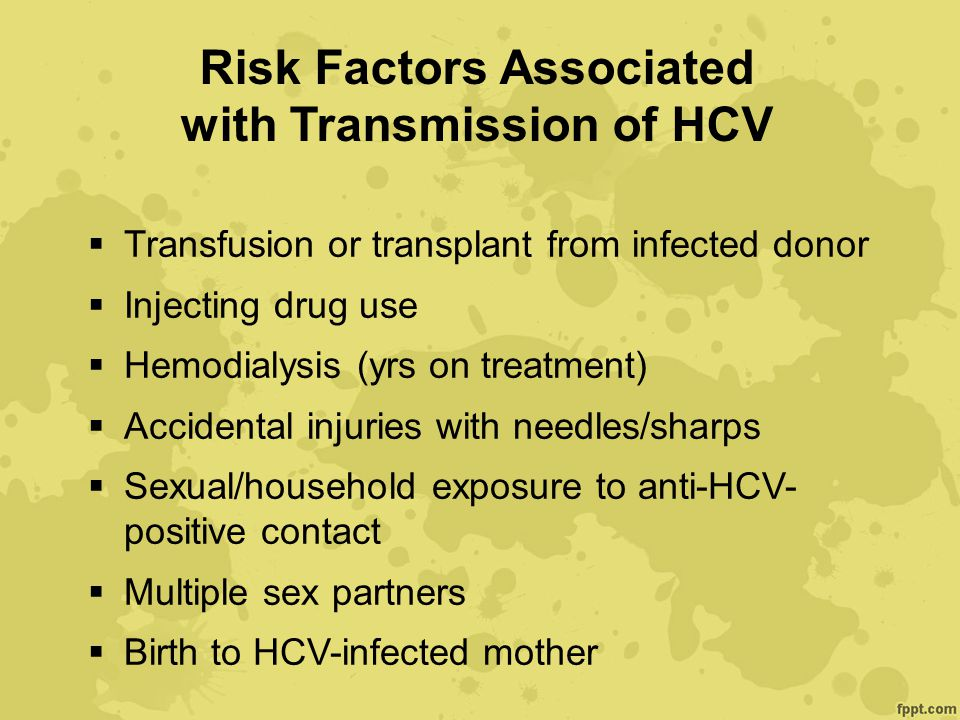 Risk Factors Associated with Transmission of HCV