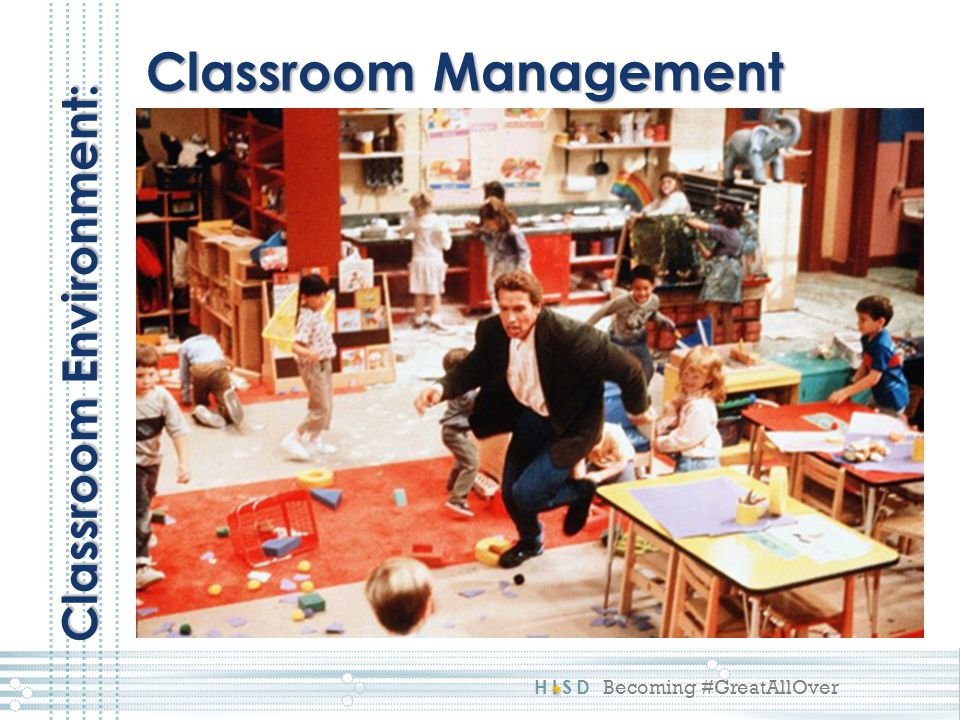 Classroom Management Classroom Environment: This picture reflects a 1: