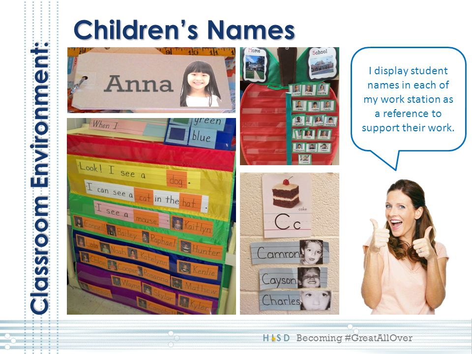 Anna Children's Names Classroom Environment: