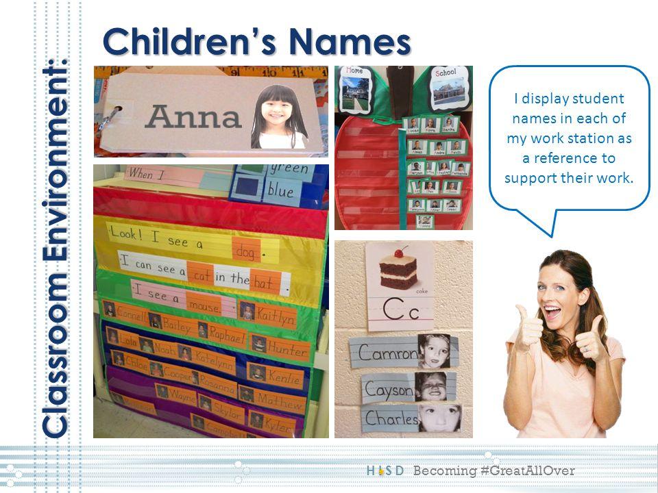 Anna Children's Names Classroom Environment: