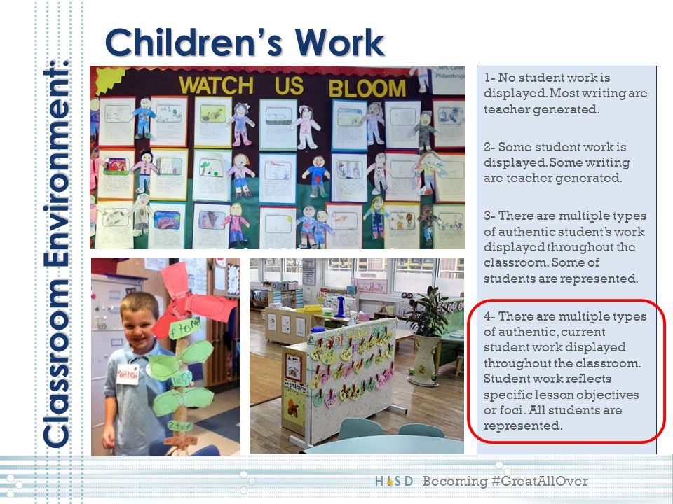 Children's Work Classroom Environment: