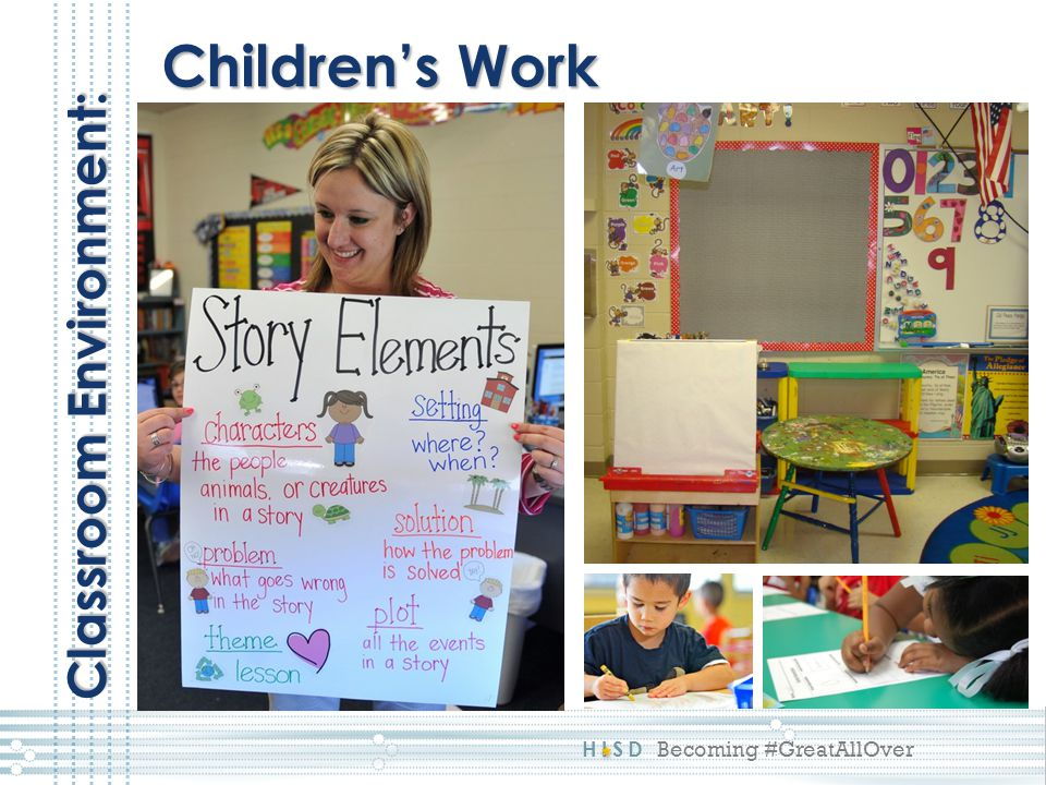 Children's Work Classroom Environment: This reflects a 1:
