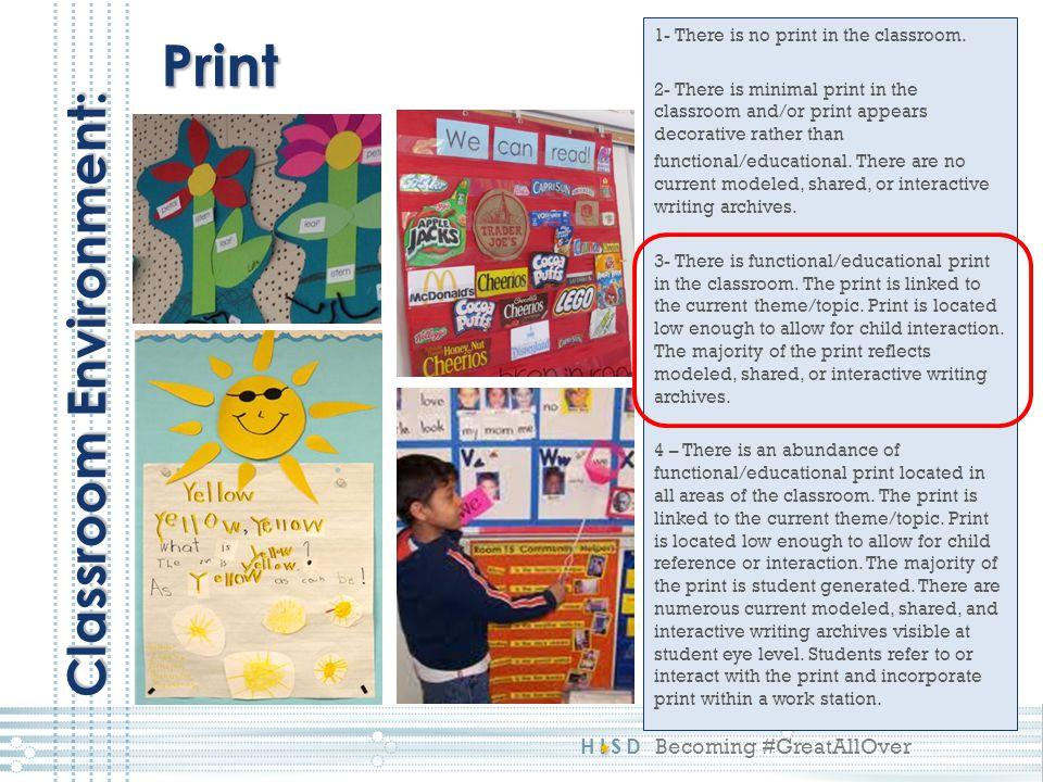 Print Classroom Environment: