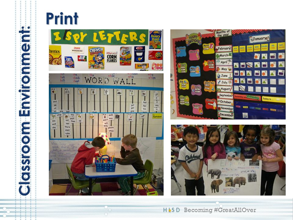 Print Classroom Environment: This reflects a 4:
