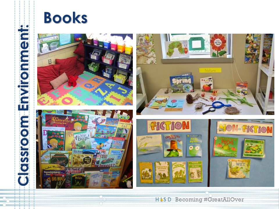 Books Classroom Environment: This reflects a 4: