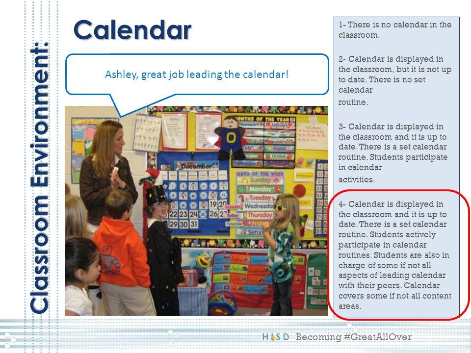 Ashley, great job leading the calendar!