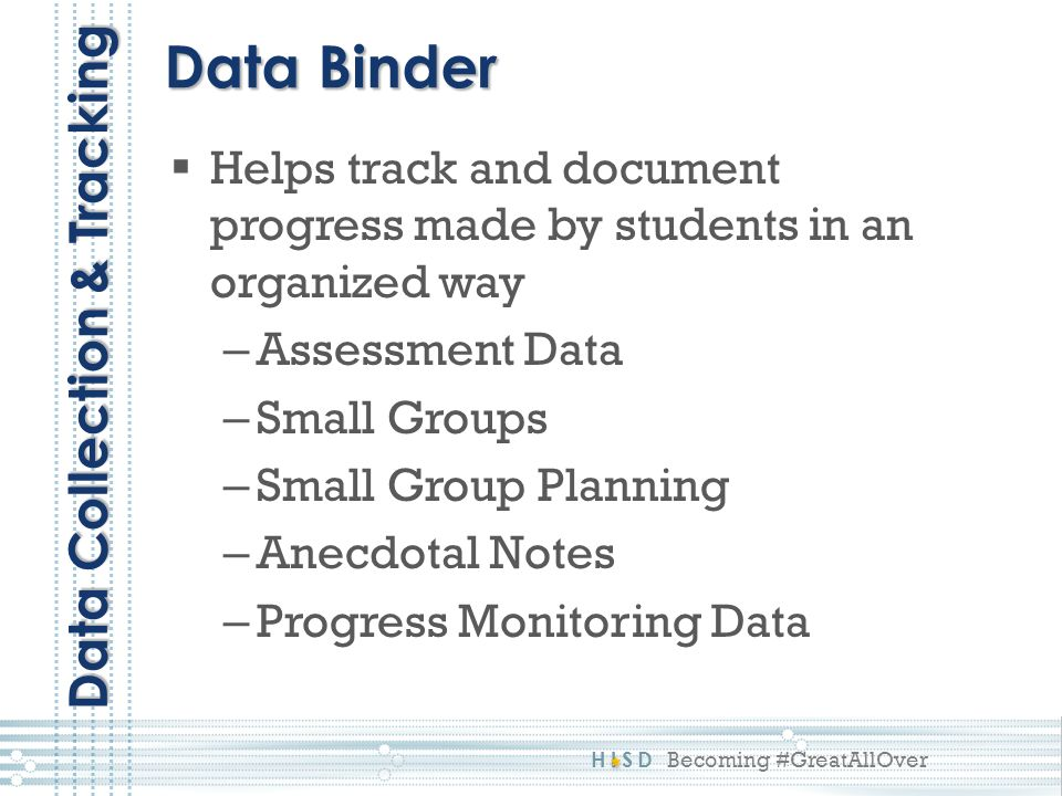 Data Binder Data Collection & Tracking