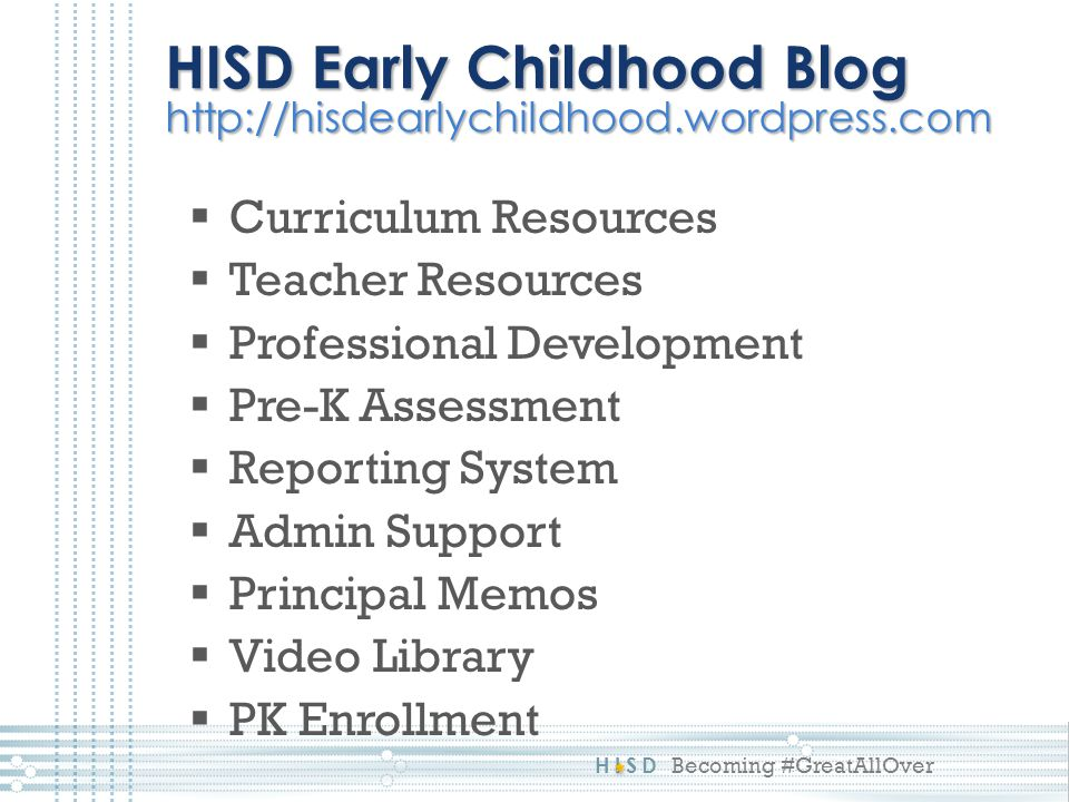 HISD Early Childhood Blog