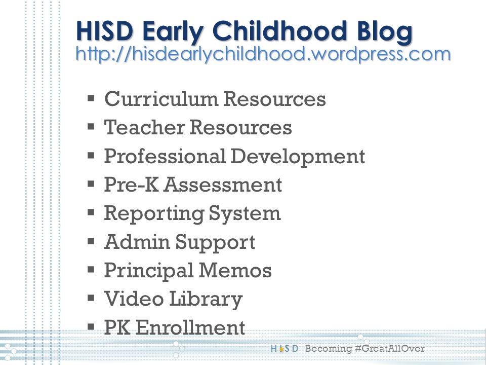 HISD Early Childhood Blog