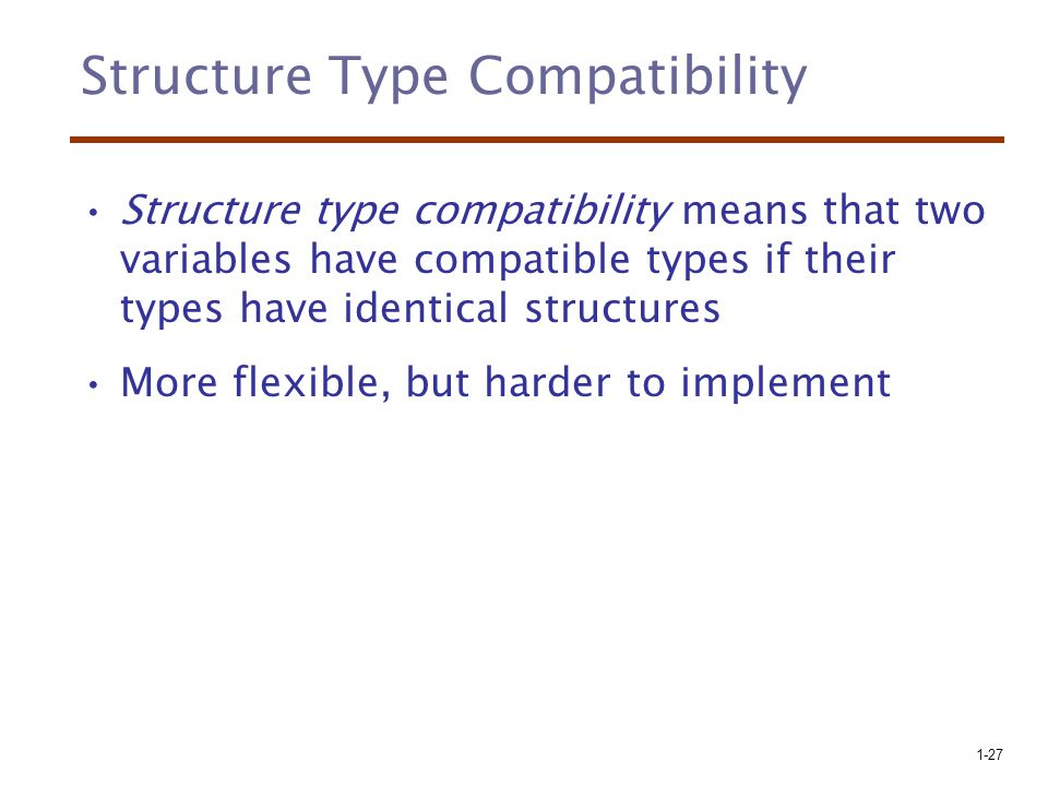 Structure Type Compatibility