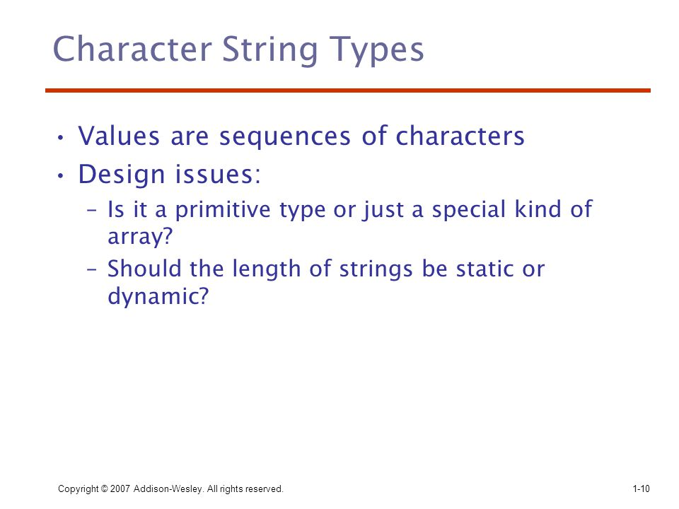 Character String Types