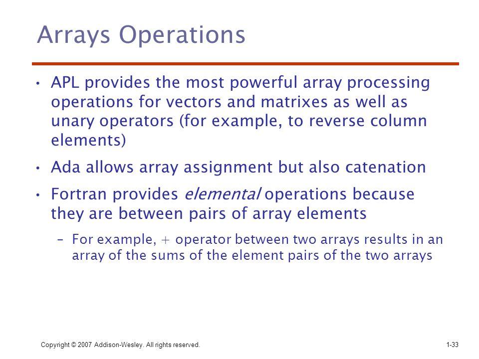 Arrays Operations