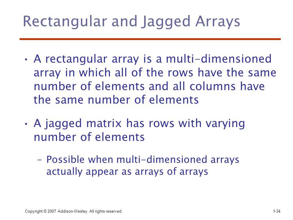 Rectangular and Jagged Arrays