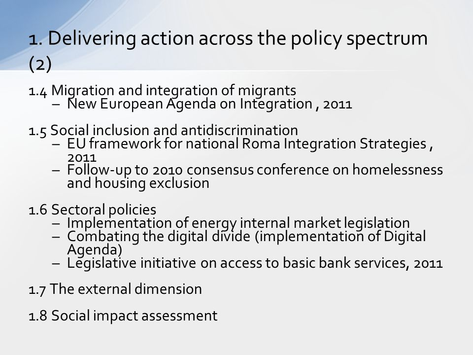 1. Delivering action across the policy spectrum (2)