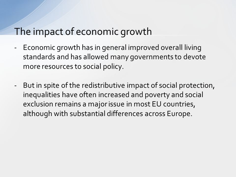 The impact of economic growth