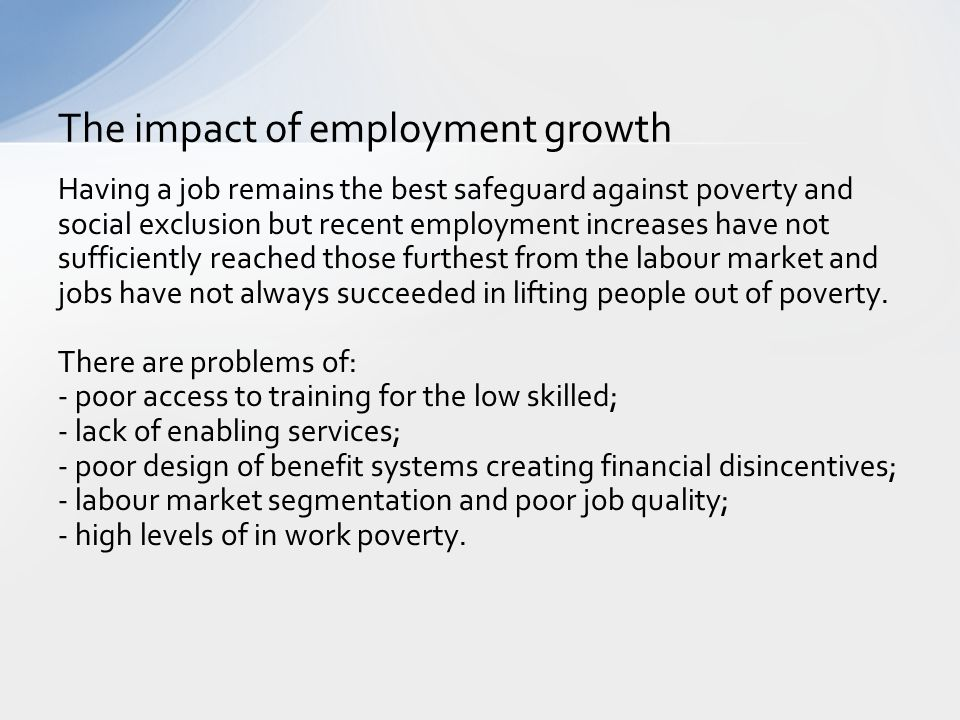 The impact of employment growth