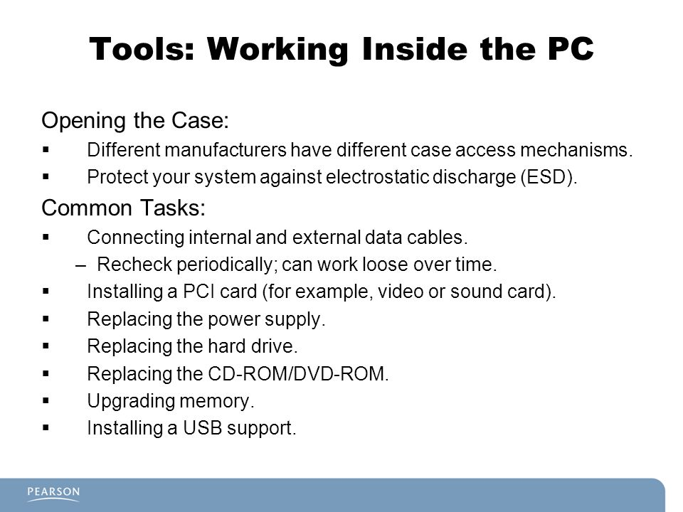 Tools: Working Inside the PC
