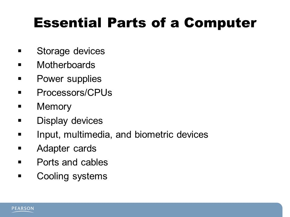 Essential Parts of a Computer