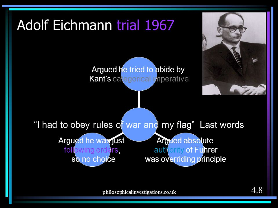 Adolf Eichmann trial 1967 philosophicalinvestigations.co.uk 4.8