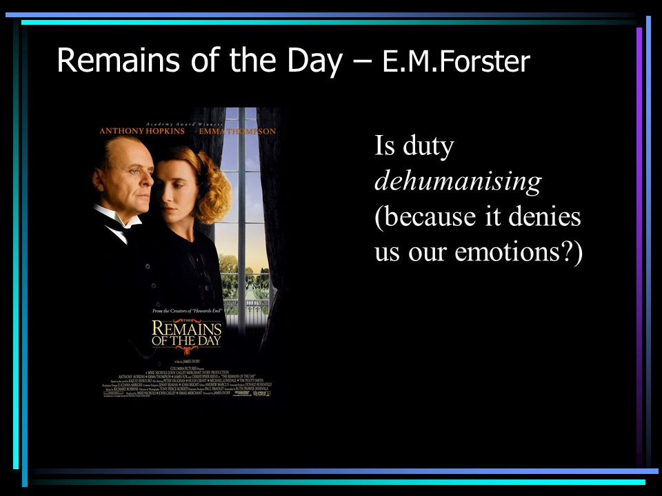 Remains of the Day – E.M.Forster
