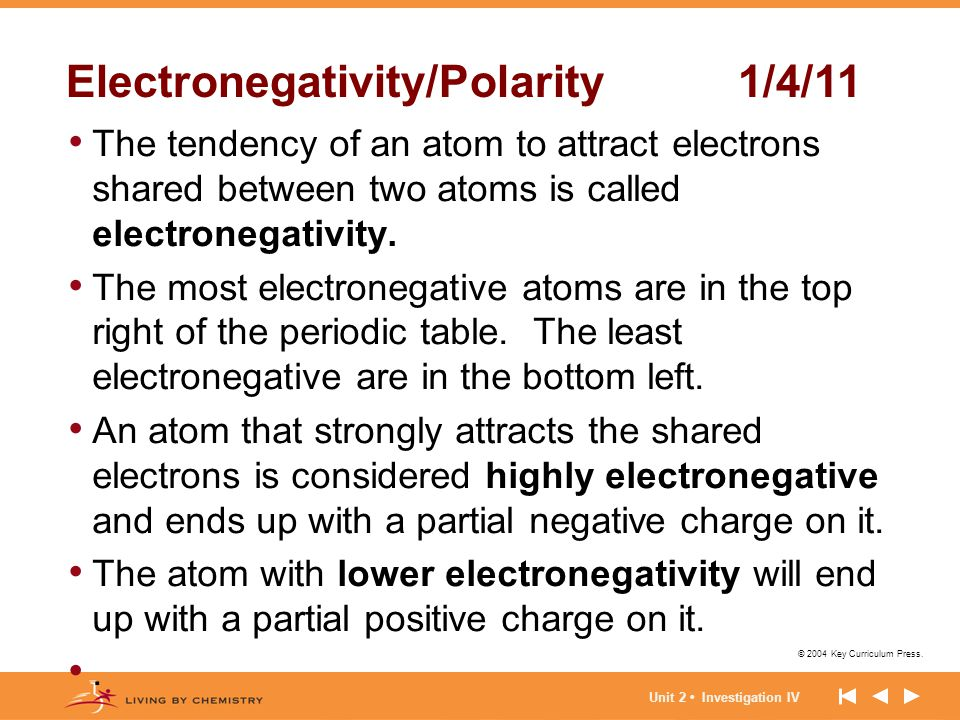 Electronegativity/Polarity 1/4/11