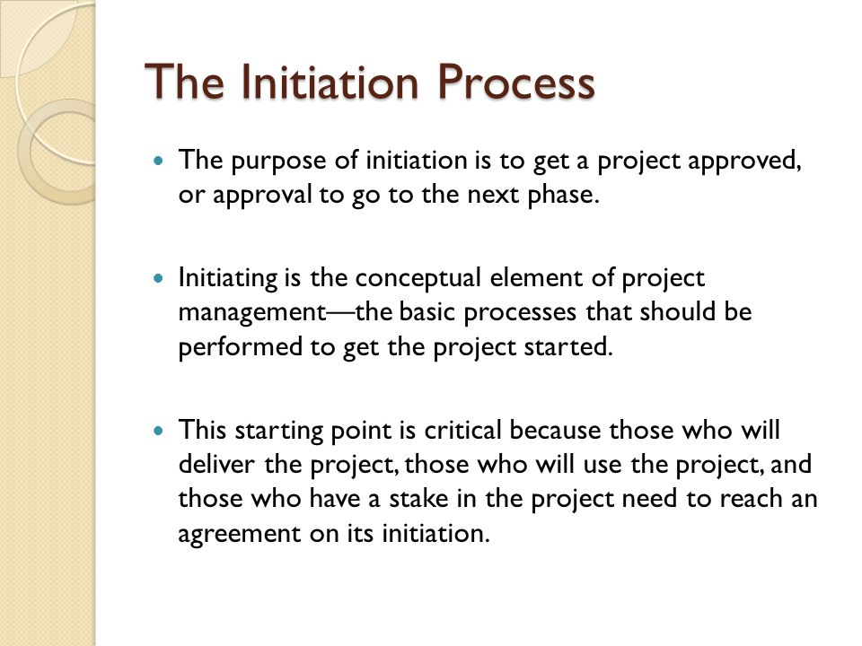 The Initiation Process