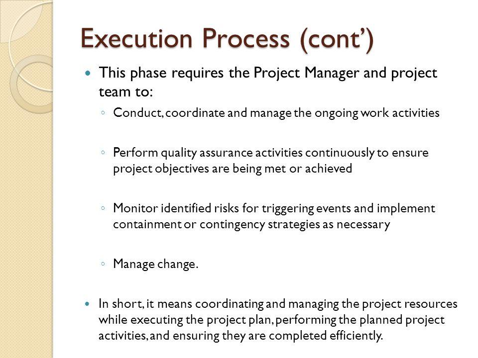 Execution Process (cont')