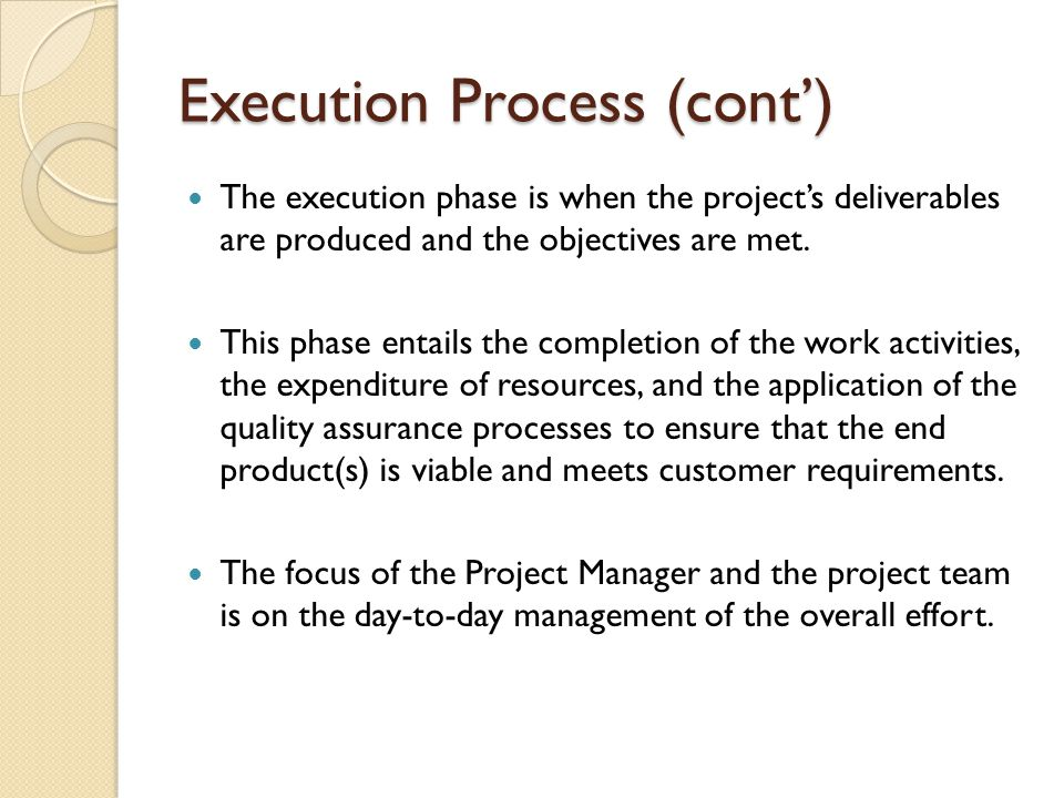 Execution Process (cont')