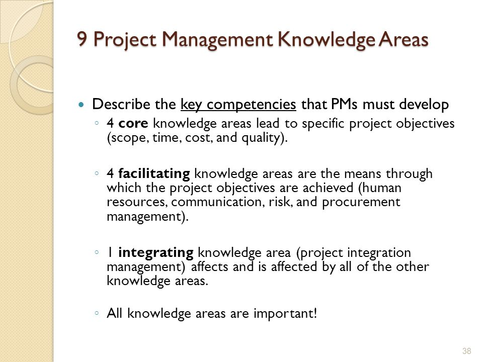 9 Project Management Knowledge Areas