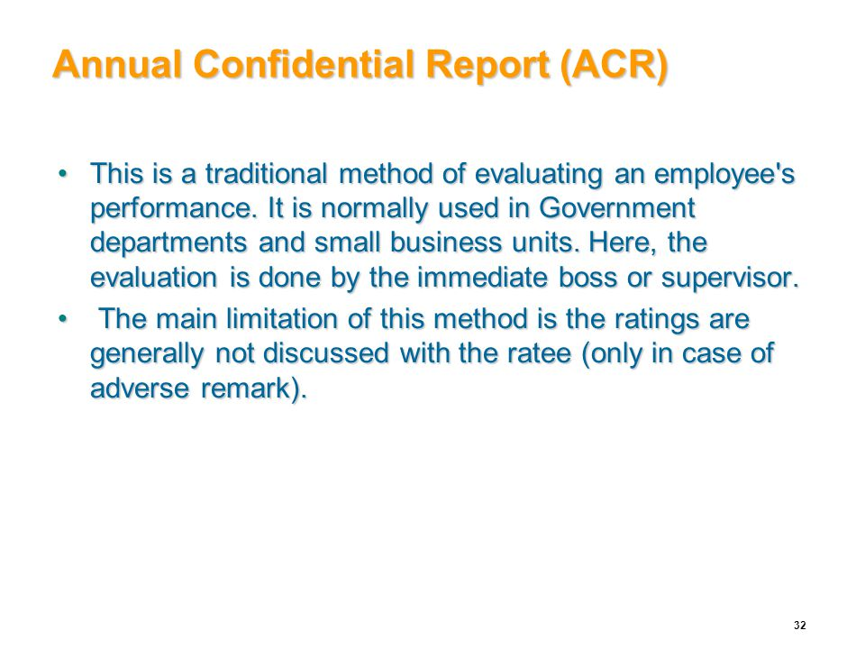 annual confidential report acr for consideration Landmark judgement on annual confidential report  in our opinion, every entry in the annual confidential report of every employee under the state, whether he is in civil, judicial, police or other  prejudice, or for some other extraneous consideration 19 in our opinion, every entry in the acr of a public servant must be communicated.