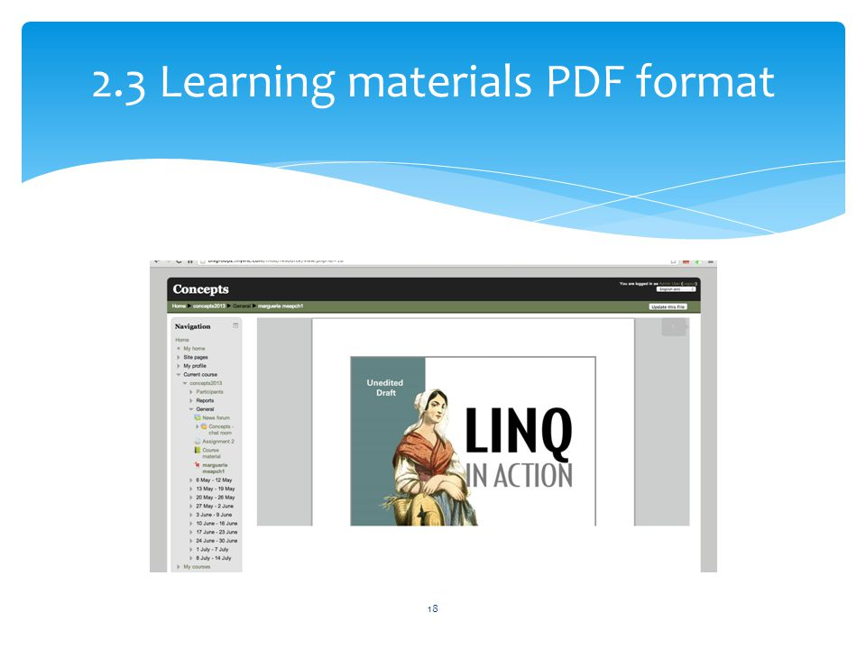 2.3 Learning materials PDF format