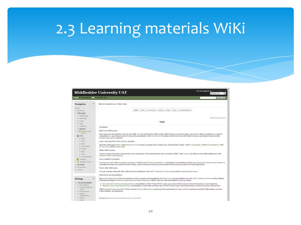 2.3 Learning materials WiKi