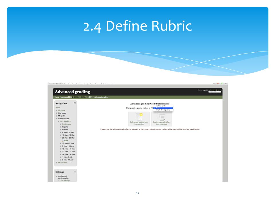 2.4 Define Rubric