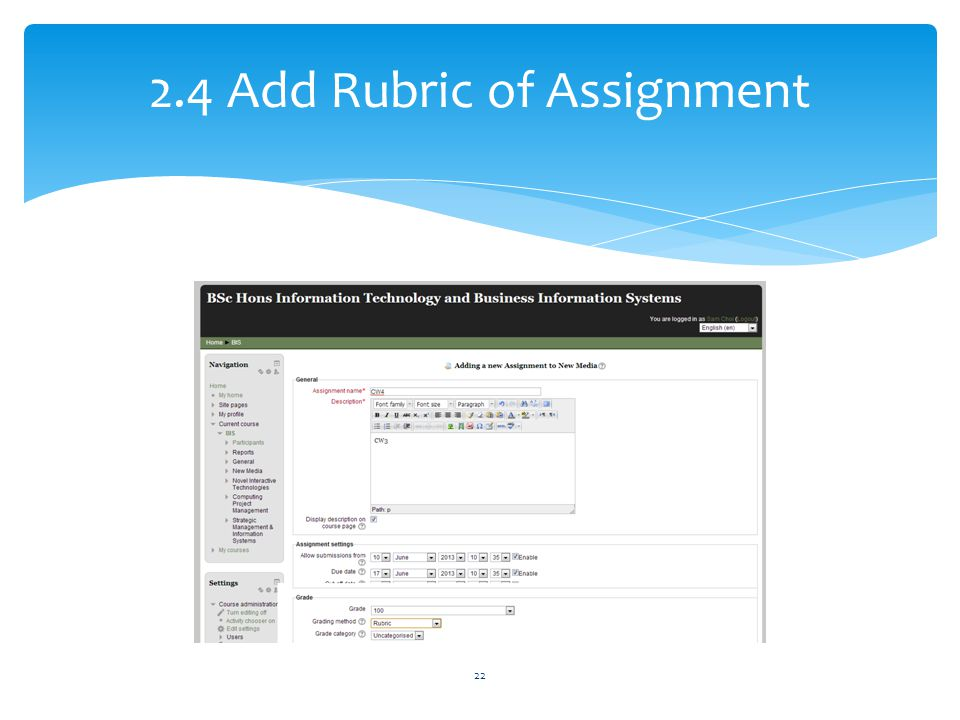 2.4 Add Rubric of Assignment