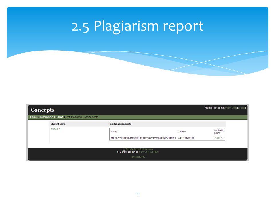 2.5 Plagiarism report