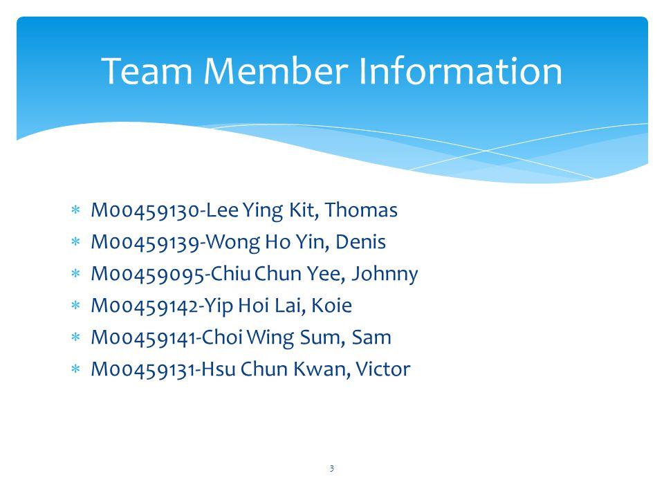Team Member Information