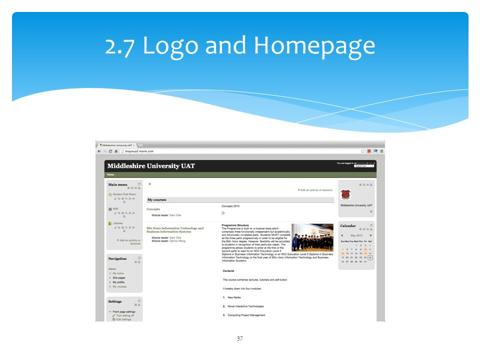 2.7 Logo and Homepage